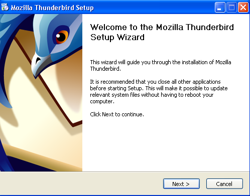 mozilla-thunderbird pasul 2